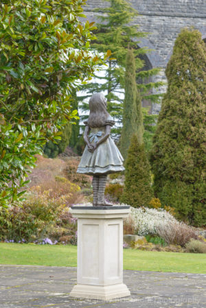 Alice bronze sculpture (at Kilver Court, Somerset) by Robert James Workshop
